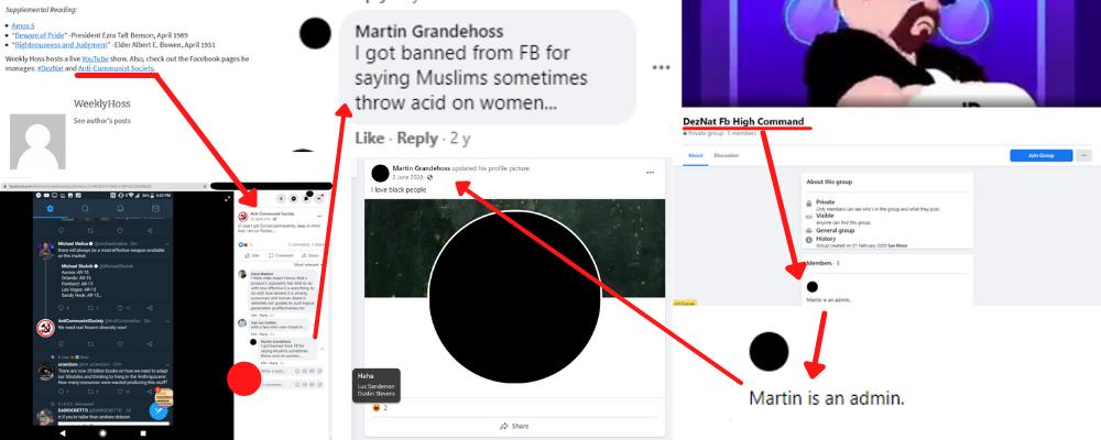 zach martin deznat facebook anticom racist arizona mormon