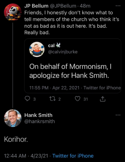 hank smith korhor antichrist byu professor deznat